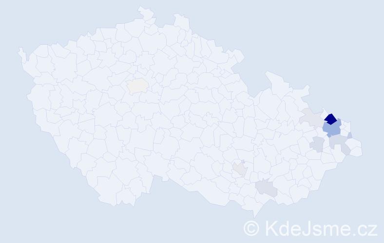 Příjmení: 'Čichoňová', počet výskytů 41 v celé ČR
