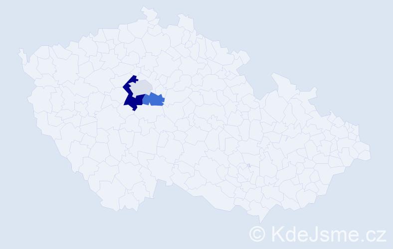 Příjmení: 'Labač', počet výskytů 5 v celé ČR