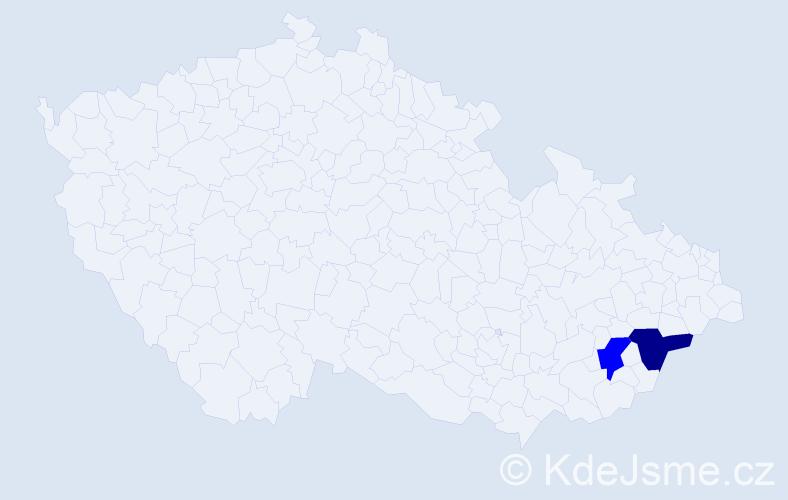 Příjmení: 'Chomutár', počet výskytů 2 v celé ČR