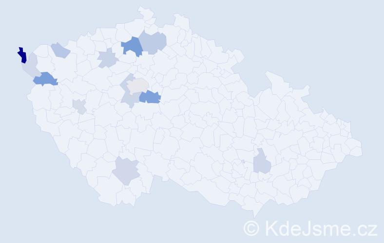 Příjmení: 'Bajcurová', počet výskytů 32 v celé ČR