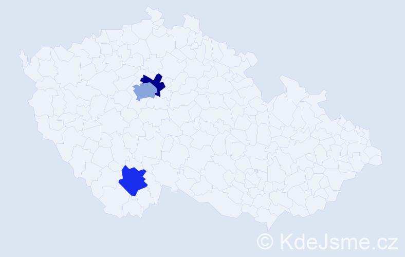 Příjmení: 'Fettrová', počet výskytů 4 v celé ČR