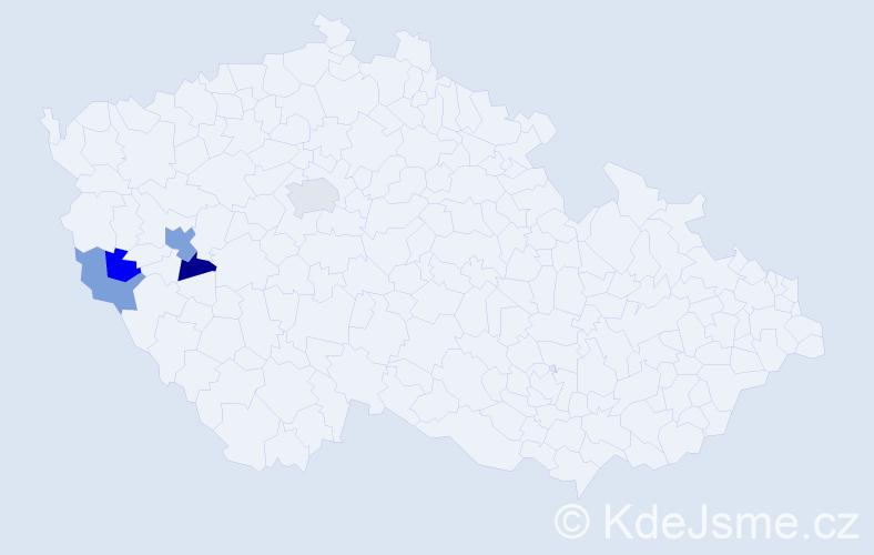Příjmení: 'Armerová', počet výskytů 8 v celé ČR