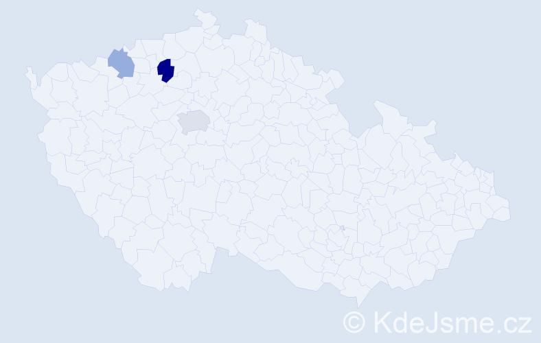Příjmení: 'Fedurca', počet výskytů 5 v celé ČR