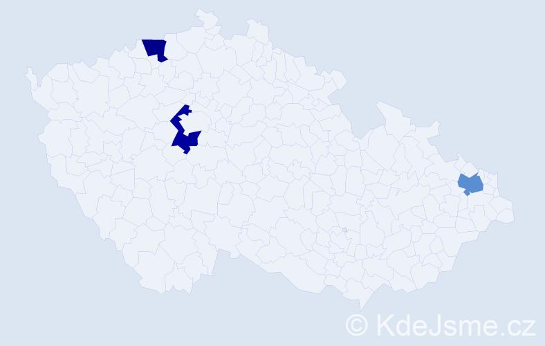 Příjmení: 'Gallischek', počet výskytů 3 v celé ČR