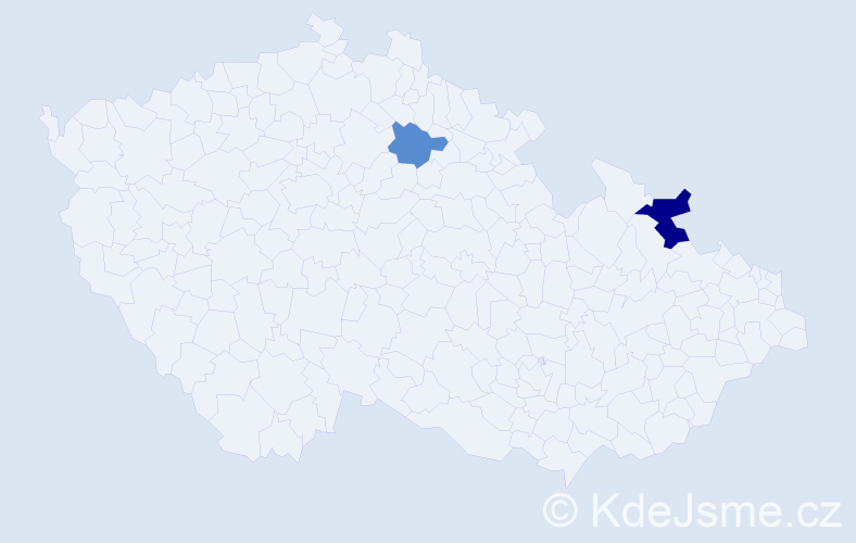 Příjmení: 'Guci', počet výskytů 3 v celé ČR