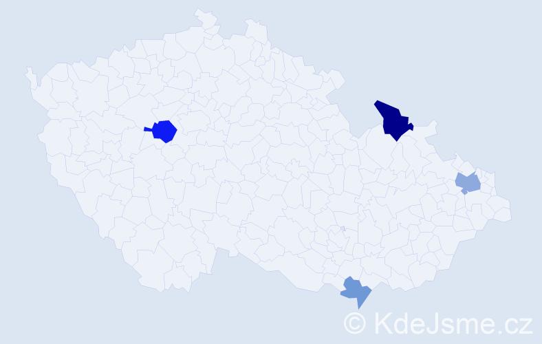 Příjmení: 'Geršicová', počet výskytů 7 v celé ČR