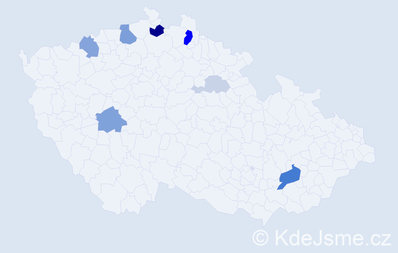 Příjmení: 'Falcman', počet výskytů 20 v celé ČR