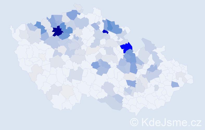 Příjmení: 'Grund', počet výskytů 450 v celé ČR
