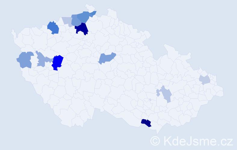 Příjmení: 'Grunertová', počet výskytů 31 v celé ČR