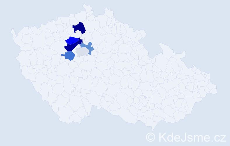 Příjmení: 'Laurychová', počet výskytů 10 v celé ČR