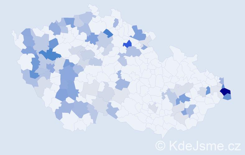 Příjmení: 'Ernst', počet výskytů 222 v celé ČR