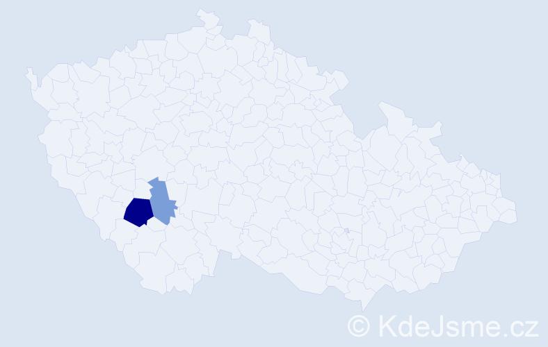 Příjmení: 'Horbová', počet výskytů 4 v celé ČR