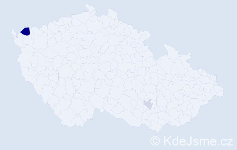 Příjmení: 'Démuth', počet výskytů 2 v celé ČR