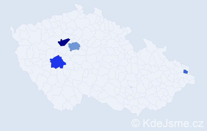 Příjmení: 'Jadwiszczok', počet výskytů 9 v celé ČR