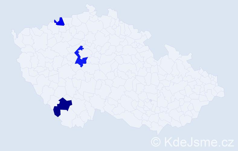 Příjmení: 'Ihnatko', počet výskytů 4 v celé ČR