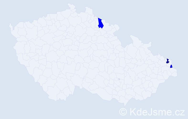 Příjmení: 'Aerts', počet výskytů 4 v celé ČR