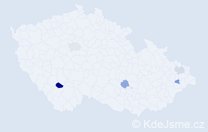 Příjmení: 'Grabicová', počet výskytů 9 v celé ČR