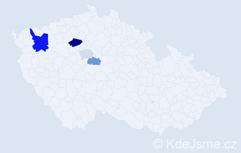 Příjmení: 'Baldo', počet výskytů 8 v celé ČR