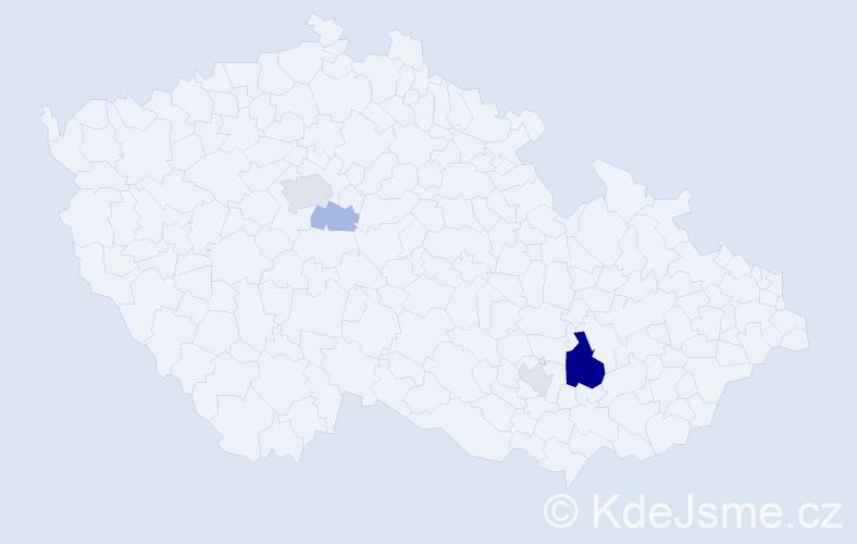 Příjmení: 'Ďuriníková', počet výskytů 11 v celé ČR