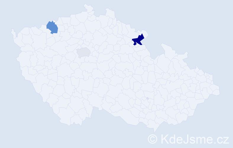 Příjmení: 'Čuhanič', počet výskytů 11 v celé ČR