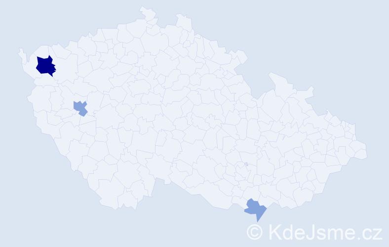 Příjmení: 'Filkoházyová', počet výskytů 8 v celé ČR