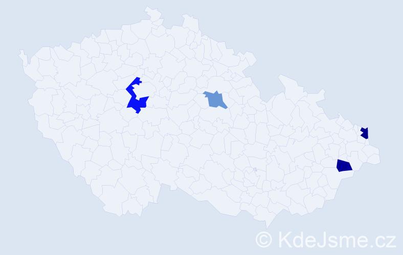 Příjmení: 'Glinská', počet výskytů 6 v celé ČR