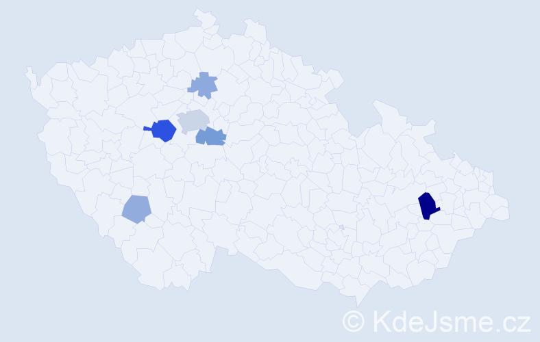 Příjmení: 'Halman', počet výskytů 18 v celé ČR