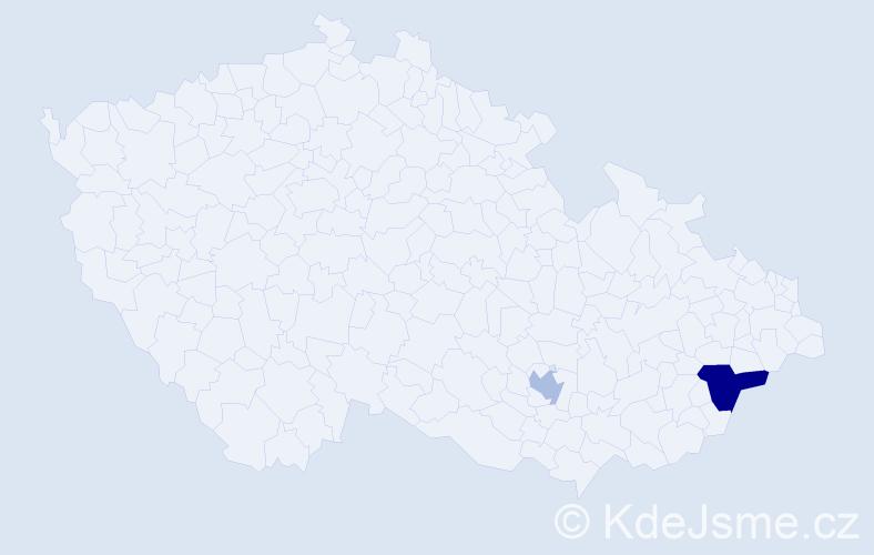 Příjmení: 'Khazalová', počet výskytů 6 v celé ČR