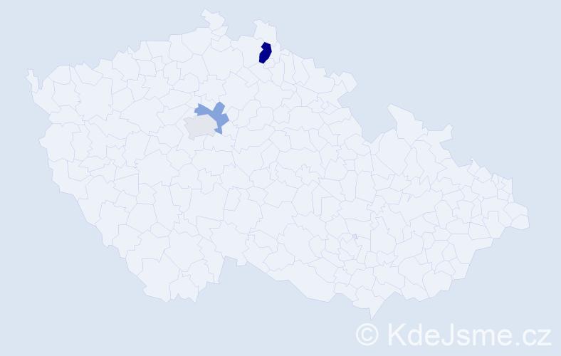 Příjmení: 'Forys', počet výskytů 5 v celé ČR