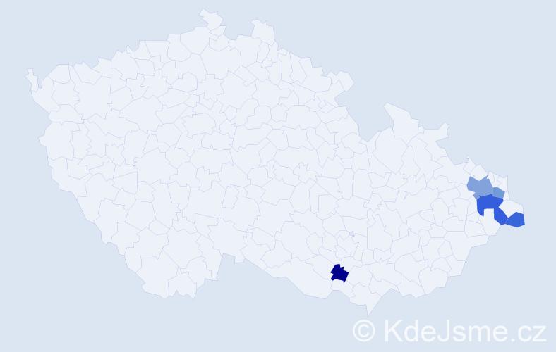 Příjmení: 'Jadlovec', počet výskytů 12 v celé ČR