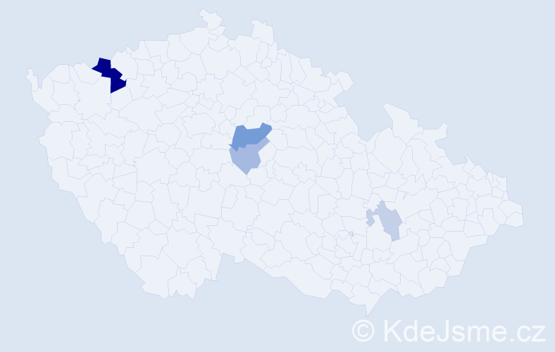 Příjmení: 'Apolen', počet výskytů 11 v celé ČR