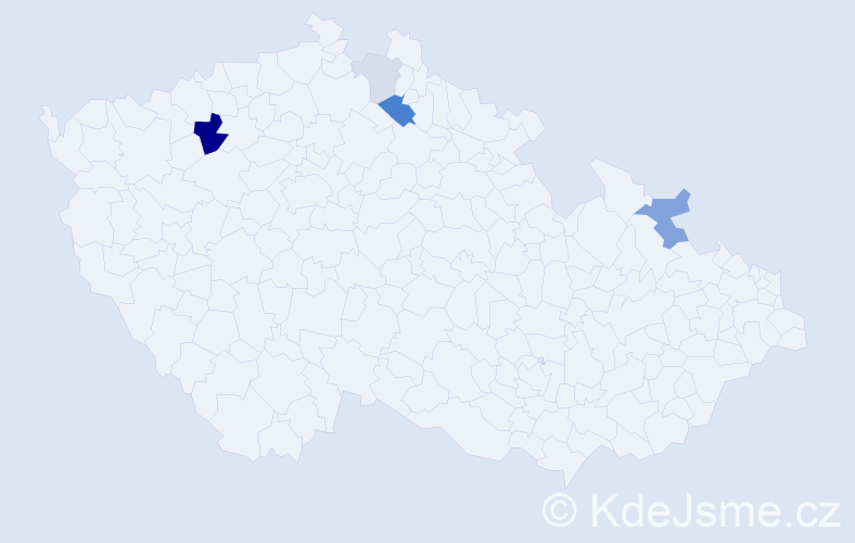 Příjmení: 'Černik', počet výskytů 11 v celé ČR