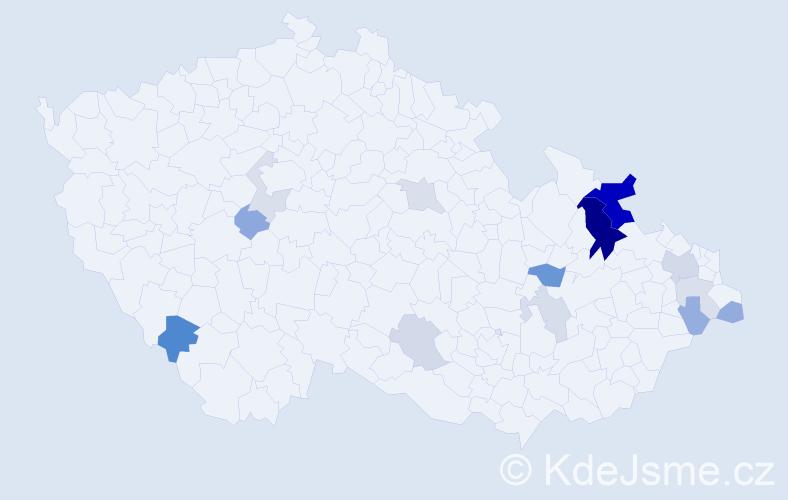 Příjmení: 'Chovančák', počet výskytů 33 v celé ČR