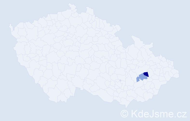 Příjmení: 'Huszerová', počet výskytů 2 v celé ČR
