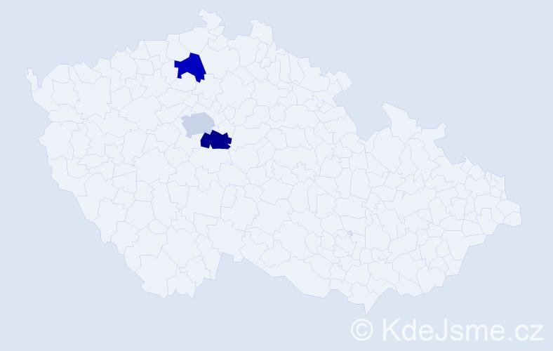 Příjmení: 'Cmund', počet výskytů 3 v celé ČR
