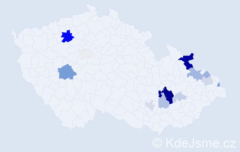 Příjmení: 'Hutera', počet výskytů 37 v celé ČR