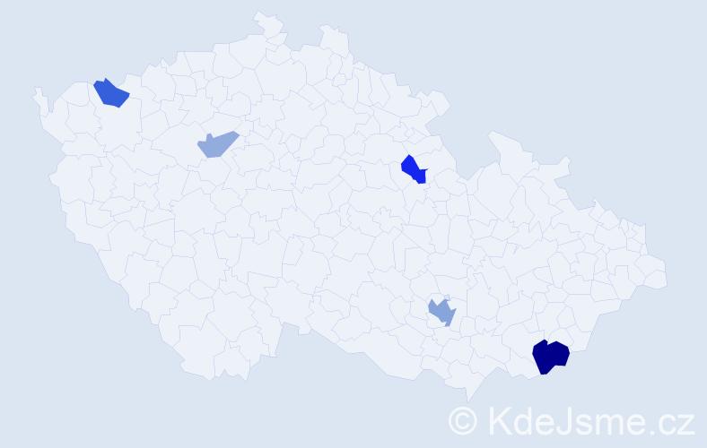 Příjmení: 'Chochlík', počet výskytů 9 v celé ČR