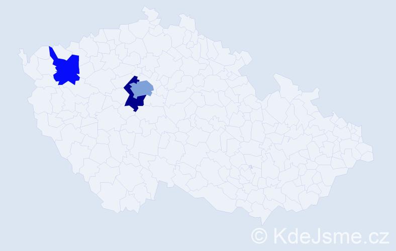 Příjmení: 'Krix', počet výskytů 11 v celé ČR