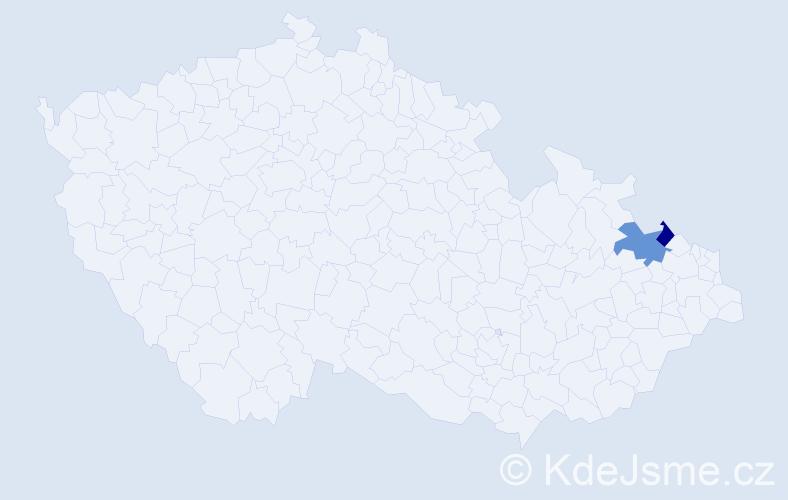 Příjmení: 'Gorčakovská', počet výskytů 5 v celé ČR