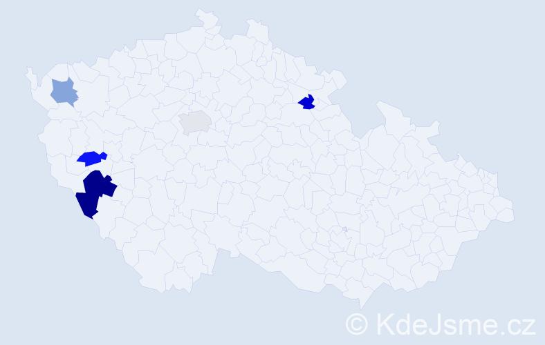 Příjmení: 'Ferenčuk', počet výskytů 7 v celé ČR
