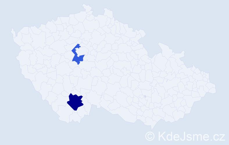 Příjmení: 'Czvingerová', počet výskytů 3 v celé ČR