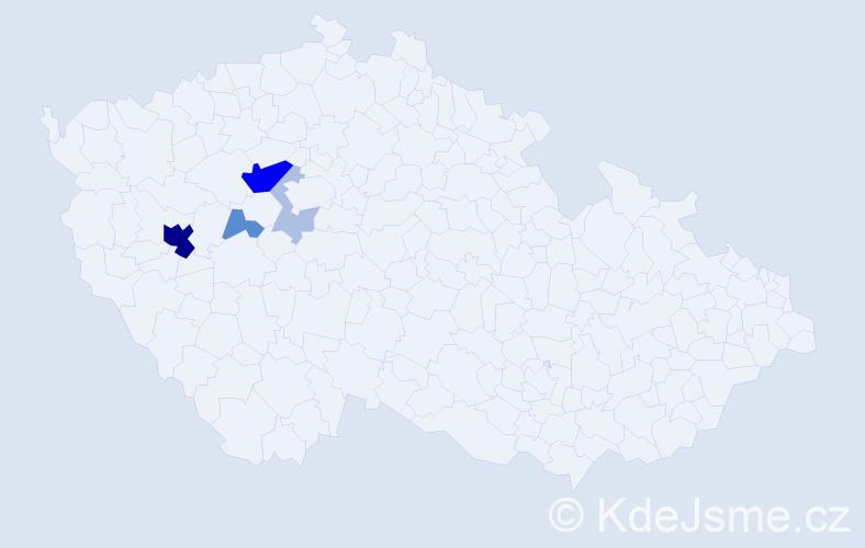Příjmení: 'Egrmaier', počet výskytů 18 v celé ČR