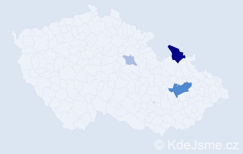 Příjmení: 'Fiorová', počet výskytů 8 v celé ČR