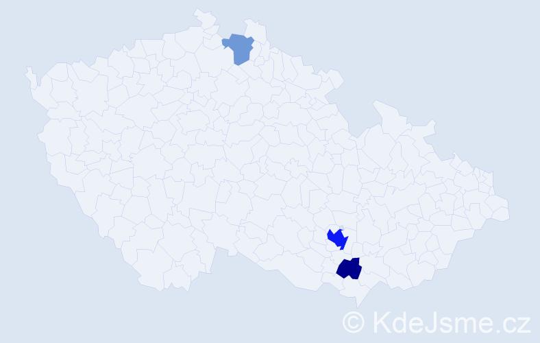 Příjmení: 'Kappová', počet výskytů 7 v celé ČR