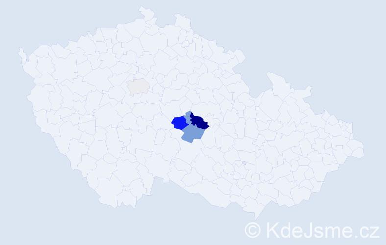 Příjmení: 'Ehrler', počet výskytů 8 v celé ČR
