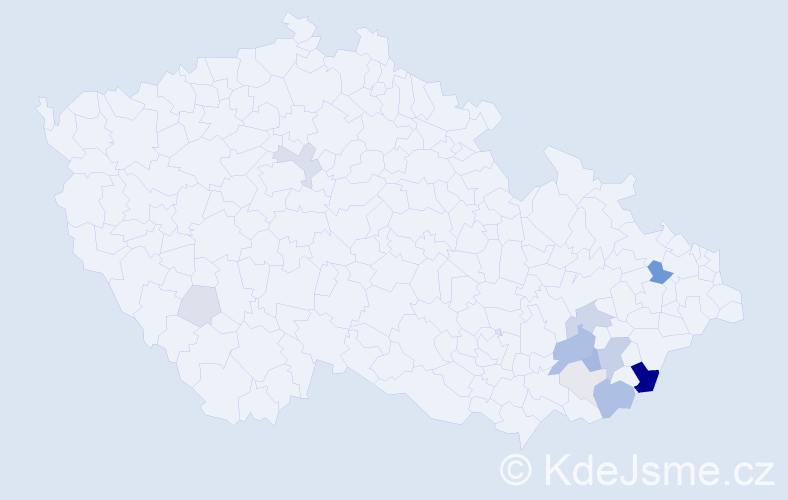 Příjmení: 'Ambruz', počet výskytů 41 v celé ČR