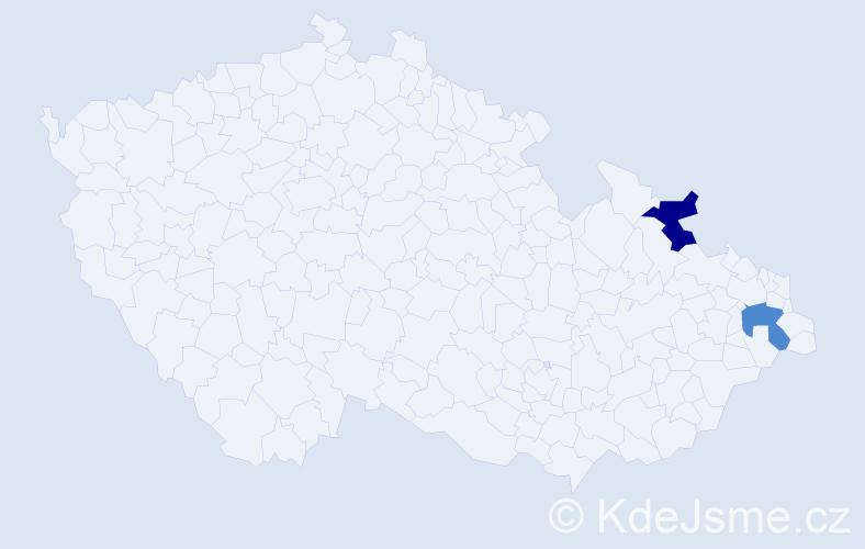 Příjmení: 'Halašy', počet výskytů 4 v celé ČR