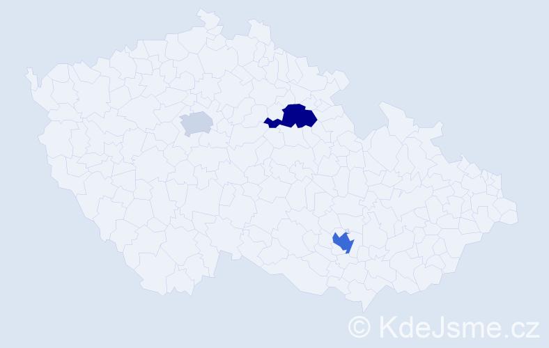 Příjmení: 'Kangas', počet výskytů 11 v celé ČR