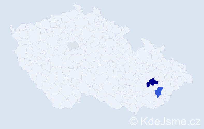 Příjmení: 'Grbić', počet výskytů 6 v celé ČR