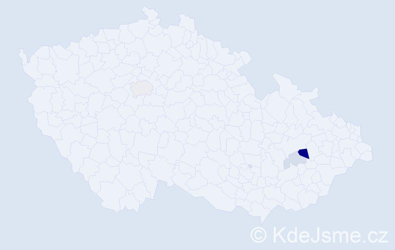 Příjmení: 'Grondol', počet výskytů 7 v celé ČR